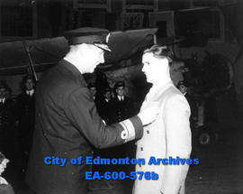 Edmonton Naval man honoured for devotion to duty in WWII: Stoker 1 A. M. Reid is decorated with t...