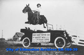 This Gray-Dort Motor Car Loaned to Miss Dorothy Wood Edmonton, Alberta on her tour of Spectacular...