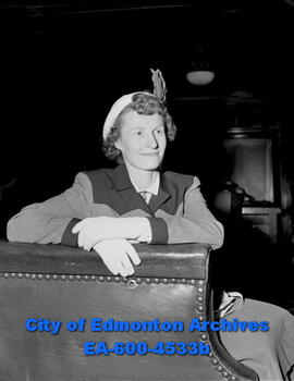 Mildred McCormack (Mrs. Walter Wilkie) former member of the Edmonton Grads.