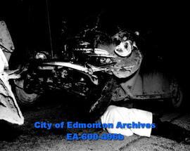 Automobile accident on the Edmonton-Calgary highway between Ellerslie and Nisku: Sgt. J. Muir of ...