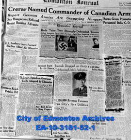 RCAF Squadron Adopted By City