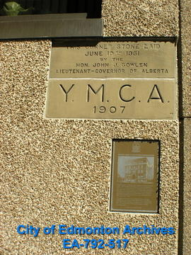 Y.M.C.A. - Plaque & Cornerstone