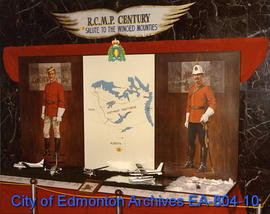 "The ""RCMP Century: Salute to the Winged Mounties"" exhibit on display in the lobby of Ci..."