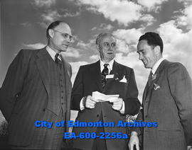 American College of Surgeons meeting in Edmonton. L-R: Dr. W.B. Hutchinson, Dr. Malcolm E. MacEac...
