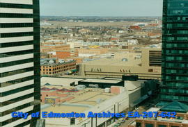 Edmonton downtown buildings and the Municipal Airport