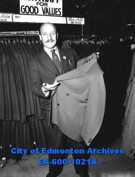 Newly arrived British immigrant F. H. Bull already working in a city department store.