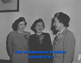 Women's branch of Canadian Legion. L-R: Lena Ewanchuk, Helen Stewart, Mary Dover.