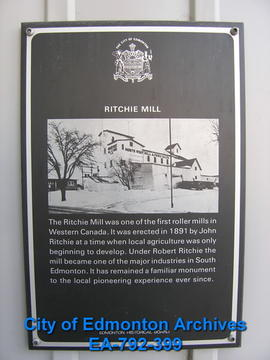 EHB Plaque for the Ritchie Mill