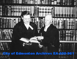 """Babies for Export"" trial lawyers Joseph Sedgewick and S. H. McCuaig confer on a legal ..."