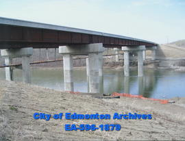 Anthony Henday Bridge; under construction from south bank