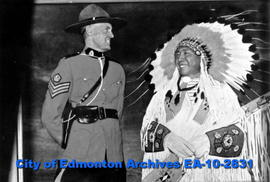 An Indian Chief and a Sergeant of the Royal Canadian Mounted Police