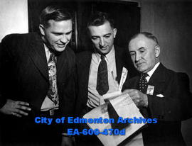 Alberta division of the Canadian Weekly Newspapers Association, two-day annual convention: (L-R) ...