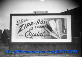 Sign - Zipp Roll Ice Cream