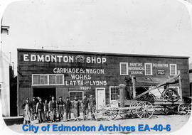 Edmonton Shoeing Shop - Carriage & Wagon Works - Latta & Lyons