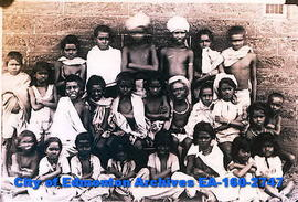 Captioned: Children as we got them from the Criminal Tribes.