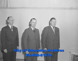 Hudson's Bay Company employees: (L-R) William S. Candy, William D. Havard, and Bryant M. Beatty.