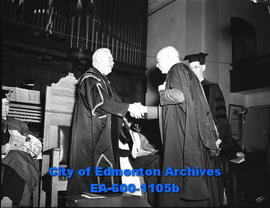 Graduating students: Premier E. Manning receives degree of Doctor of Law - Dr. B.E. McNally.