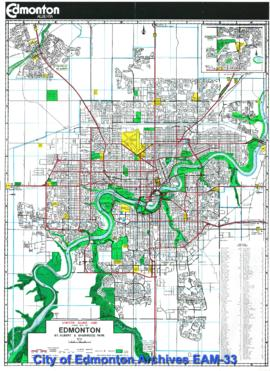 Visitor Guide and Street Map of Edmonton, St. Albert, & Sherwood Park.