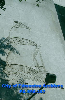 Hudson's Bay Company Building mural:  the tall ship