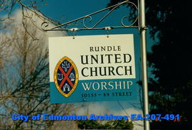 Sign - Rundle United Church