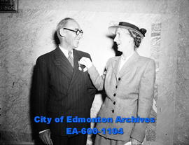 Mr. and Mrs. Richards: Mr. Richards recieves Imperial Service Medal for service to the postal dep...
