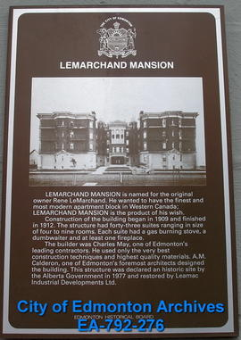EHB Plaque for LeMarchand Mansion