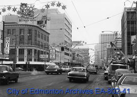 Jasper Avenue looking east from 104 Street