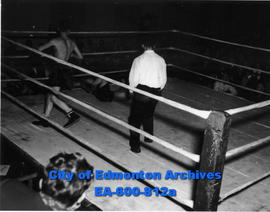 Amateur boxing show at the USO Hall.