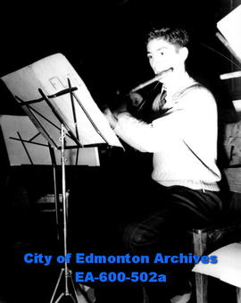 Edmonton Philharmonic Orchestra prepares for fourth season of concerts: flute section.
