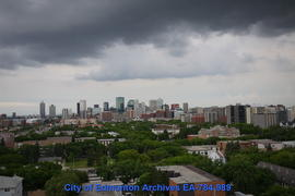Storm Clouds Over Downtown - Image 1 of 2