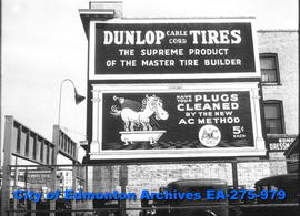 Sign - Dunlop Tires / AC Spark Plugs
