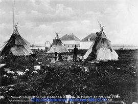 Skin Lodges of the Dog Ribb Indians in Front of the H.B. Co.'s Fort, Great Slave Lake