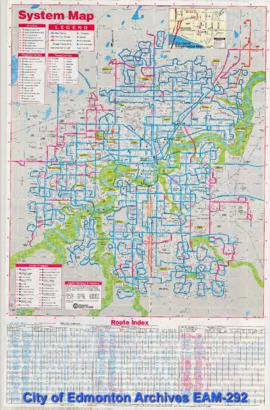 Edmonton Transit System Ride Guide, Spring and Summer 1995