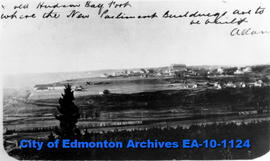 Fort Edmonton from Rossdale