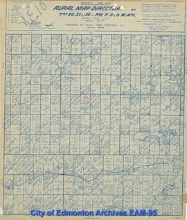 Sheet No 165, Rural Map Directory of Tps. 50, 51, and 52 in Rgs. 7, 8, and 9, W.4th