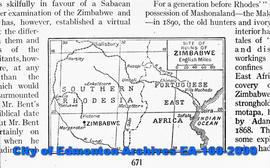 A map of the Ruins at Zimbabwe.