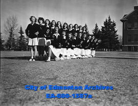 Cheerleaders from Strathcona High School.