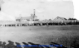 One of the First Rugby Games Played at Diamond Park