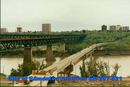 High Level Bridge and L.R.T. (Dudly Menzies) Bridge Under Construction