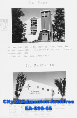 St. Mary  and St. Matthias Anglican Churches Poster