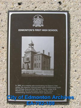 EHB Plaque for College Avenue High School