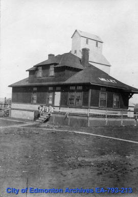 Railway station at Millet, Alberta