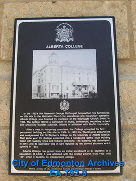 EHB Plaque for Alberta College