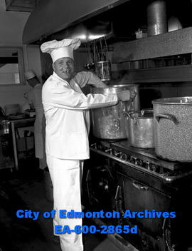 Women's Page: Gil Holmes, chief chef for the C.F. Braun Construction Company.