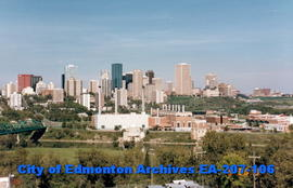 Edmonton skyline from south west