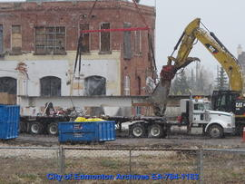 Demolition of Molson's Building - Removing Beams - Image 9 of 17