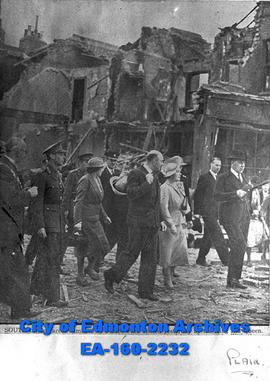 An Inspection of the Areas Damaged by Bombs in South London.