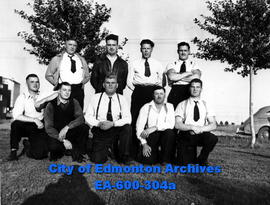 Edmonton Police Amateur Athletic Association: (L-R, B-T) Pete Tyler, Joe Lamoureux, Jack Wakeford...