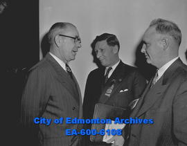 Alberta School Trustees, Hon. Ivan Casey, Minister of Education, A. Foulds and W.G. Smith of sout...