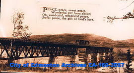 "A bridge and hymn, ""Peace, peace, sweet peace."""
